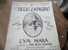 VINTAGE ORIGINAL SHEET MUSIC 1926 BLUE DANUBE LYA MARA STRAUSS EASY PIANO